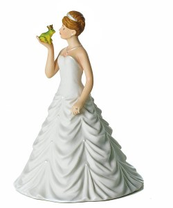 "Sweet ""Frog Prince"" themed princess bride topper"