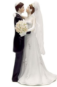 Jewish couple cake topper