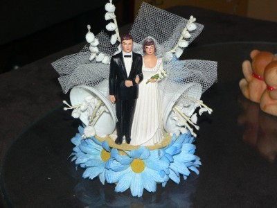 "Can you tell I love vintage?  This is a posting on Ebay.  If you're reading this before March 12th, search ""vintage wedding cake topper"".  If not, the auction has finished.  Sorry!"